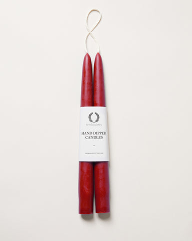 Red Taper Candle - Pair