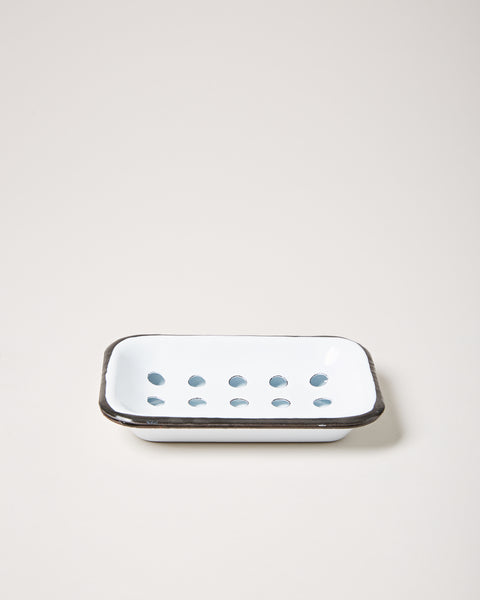 Enamel Soap Dish - White