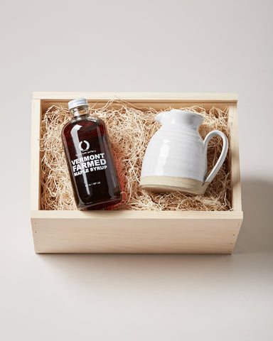 Maple Syrup & Small Bell Pitcher Gift Set
