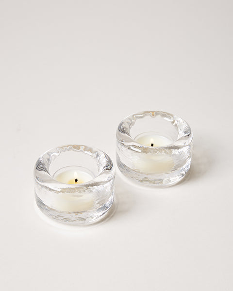 Riverstone Tealight pair in clear