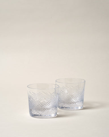 Cut Crystal Cocktail Glass - Set of 2
