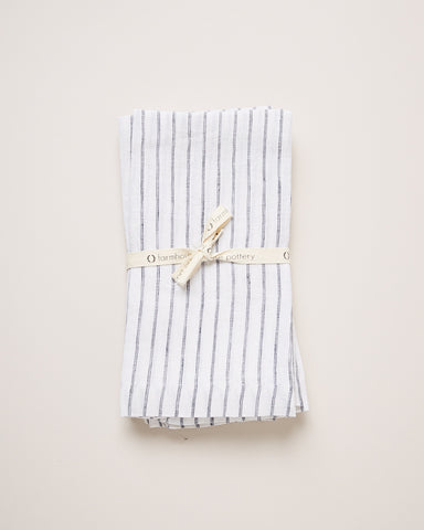 Washed Linen Napkins, 4 pack - Stripe