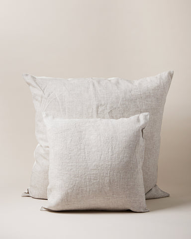 Washed Linen Pillows in stone