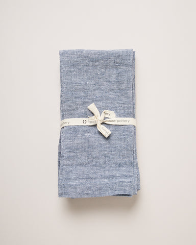 Washed Linen Napkins - Indigo
