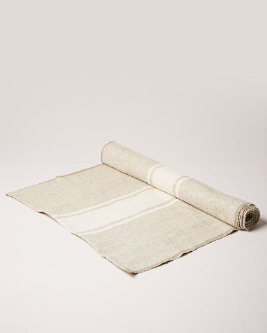 Handloom Stripe Cream Runner