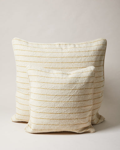 maine weave pillow in ochre