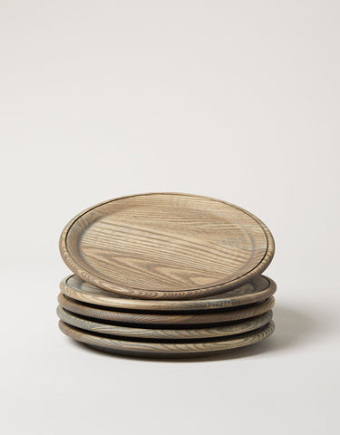 Crafted Wooden Plate - Grey