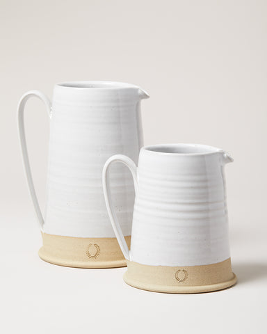 Countryman Pitcher in medium and large wheel thrown pottery in Vermont