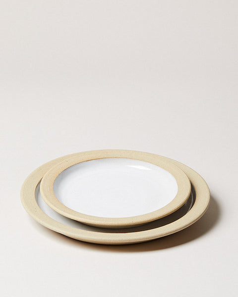 Silo Dinnerware dinner plate and side plate
