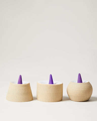 Incense Pedestals with Lavender Incense Cones