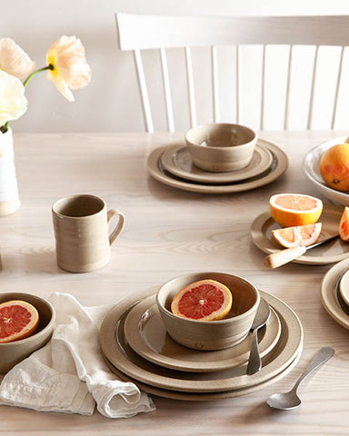 Pastoral Silo Dinnerware Table - Farmhouse Pottery