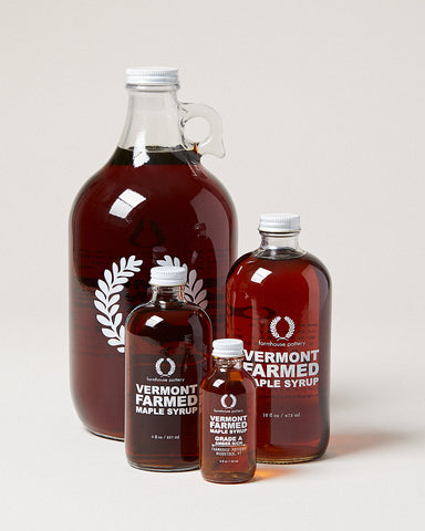 Vermont Farmed Maple Syrup Grade A Amber Rich Farmhouse Pottery