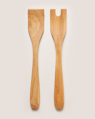 Crafted Salad Servers - Natural