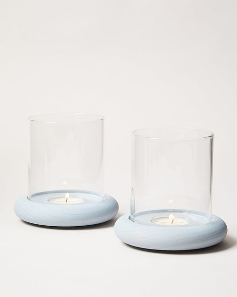 Donut Tealight Hurricane Pair