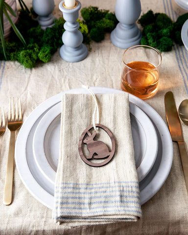Agrarian Linen Napkins on Easter table
