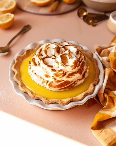 Classic Bakers Pie Dish with lemon meringue pie