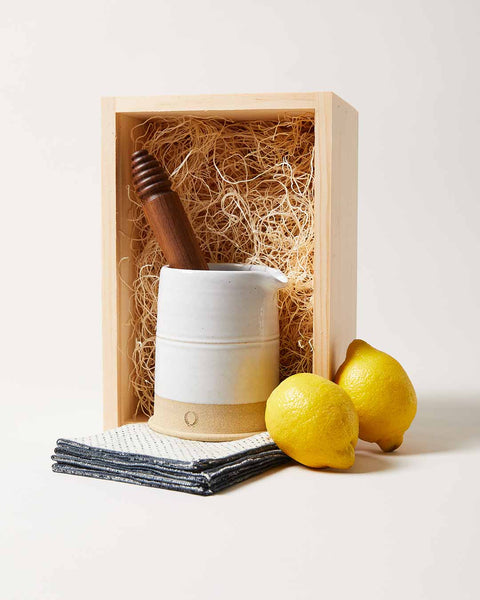 Craft Cocktail Gift Set with Countryman Cocktail beaker, muddler, cocktail napkins