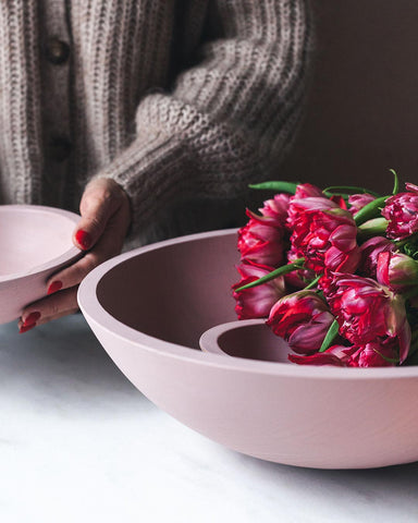 Farmers Painted Bowls - Blush