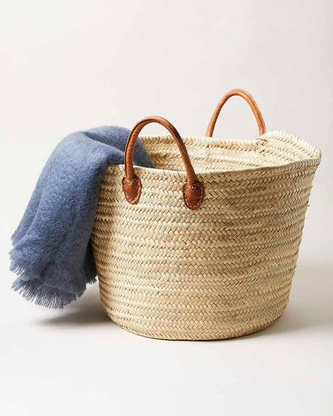 Laundry Basket hand woven in Morocco