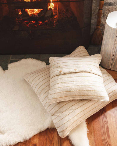 maine weave pillows fireside