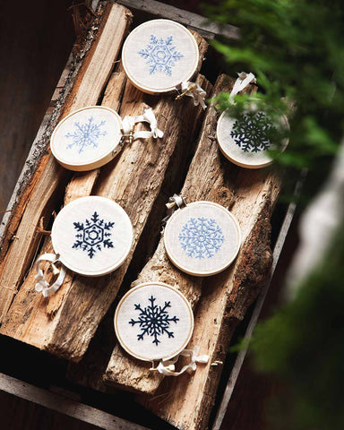 Nordic Embroidered Ornament - Dusk