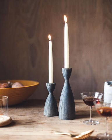 Pantry Candlesticks in grey