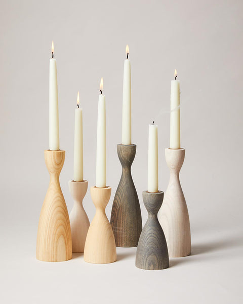 Pantry Candlestick set in natural, white, and grey
