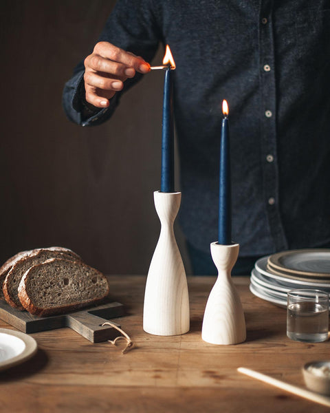 Pantry Candlestick - White