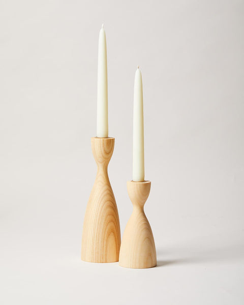 Pantry Candlestick pair in natural