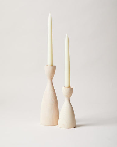 Pantry Candlestick pair in white
