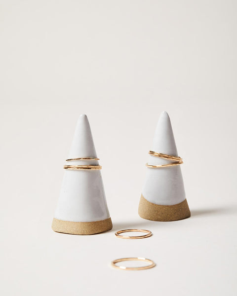 Handmade pottery Ring Cone