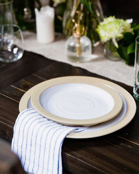 Silo Dinnerware plates on table