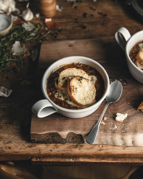 Silo Soup Mug with french onion soup
