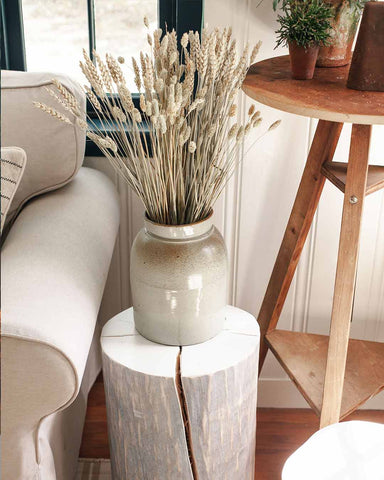 Vermont Wood Stump - White