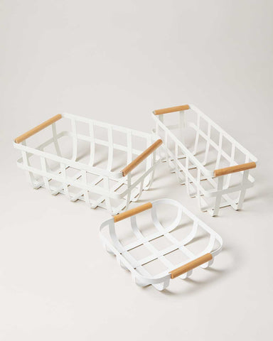 White Utility Baskets