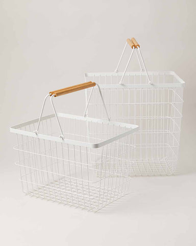 White Wire Baskets