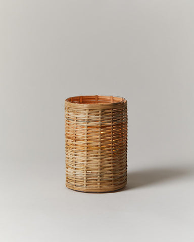 Wicker Hurricane candleholder