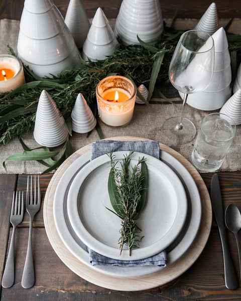Silo Dinnerware White in Christmas Table