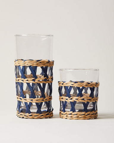 Wrapped Glasses Tall and Short in Navy