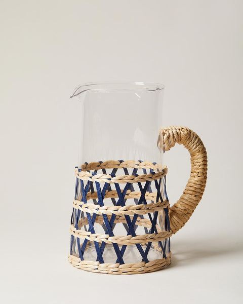wrapped pitcher in navy