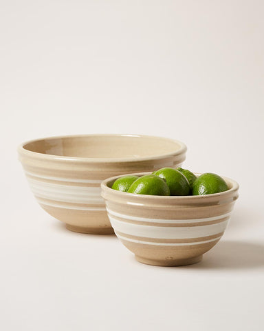 Yellowware Bowls wheel thrown in Vermont with limes