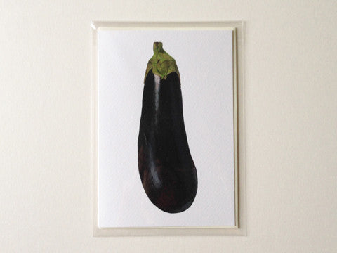 Aubergine - Greetings Card