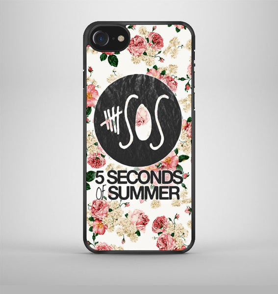 5Sos Floral Fitted iPhone 7 Case Avallen