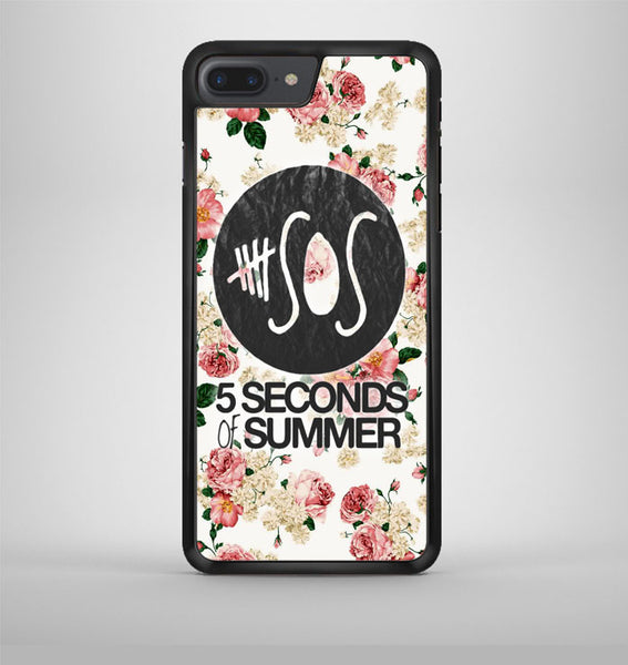 5Sos Floral Fitted iPhone 7 Plus Case Avallen