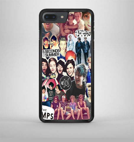 5 Second of Summer and The Vamps Collage iPhone 7 Plus Case Avallen