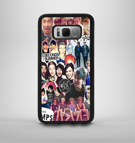 5 Second of Summer and The Vamps Collage Samsung Galaxy S8 Edge Case