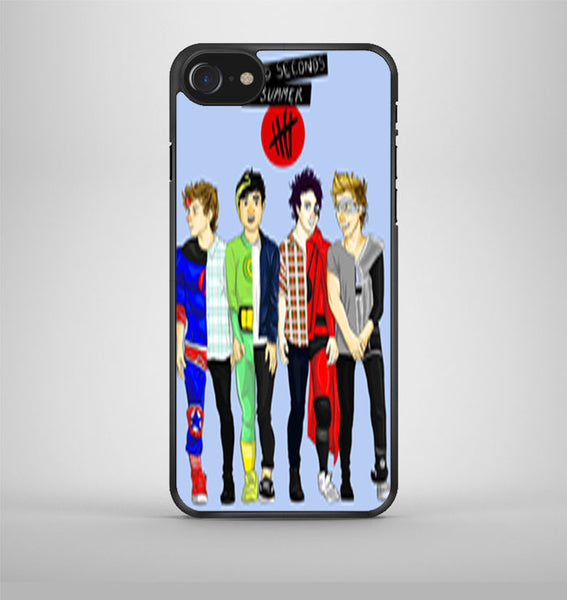 5 Seconds Of Summer Drawing iPhone 7 Case Avallen