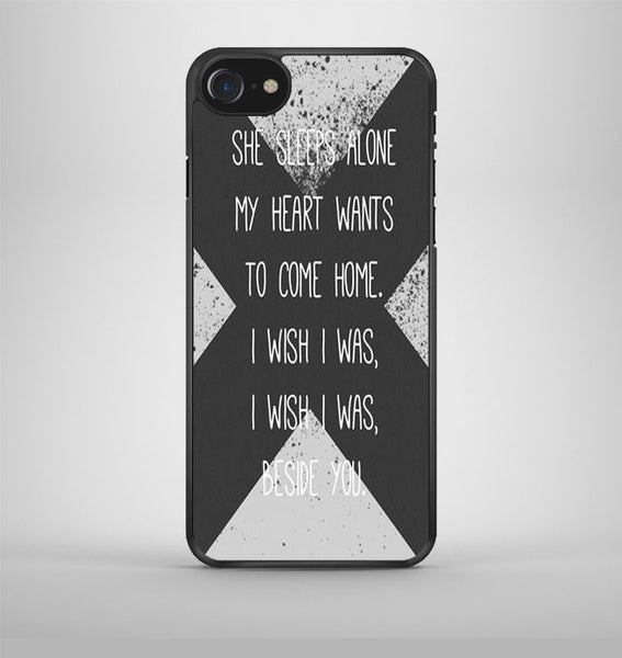 5 Sos Lyric Beside iPhone 7 Case Avallen