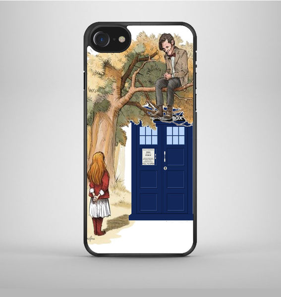 Alice In Wonderland And Tardis Doctor Who iPhone 7 Case Avallen