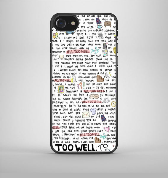 All Too Well Lyric Cover iPhone 7 Case Avallen